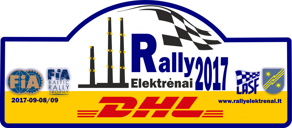 DHL rally elektrenai logo 2017